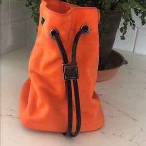 Small orange Gucci wrist purse